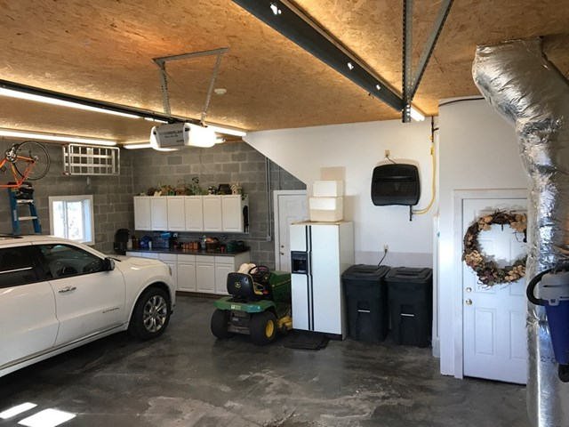 2 car attached garage