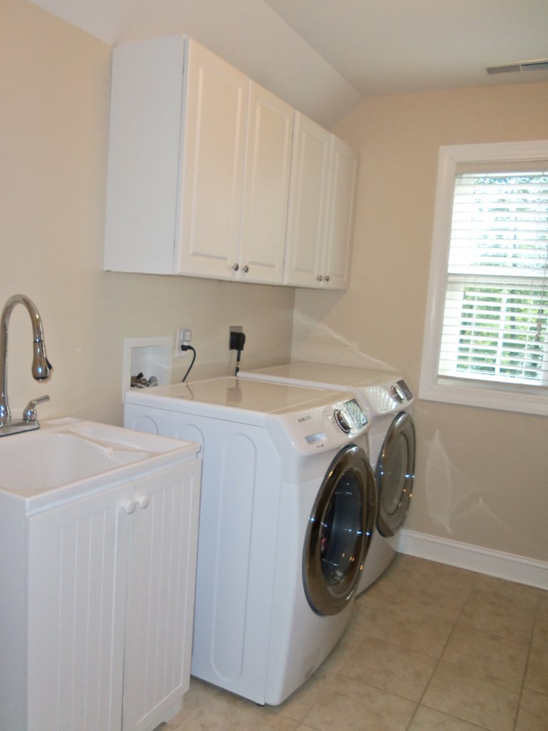 Upstairs laundry room